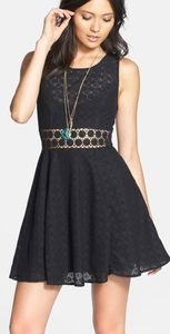 Free People Daisy Lace Fit & Flare Dress 10